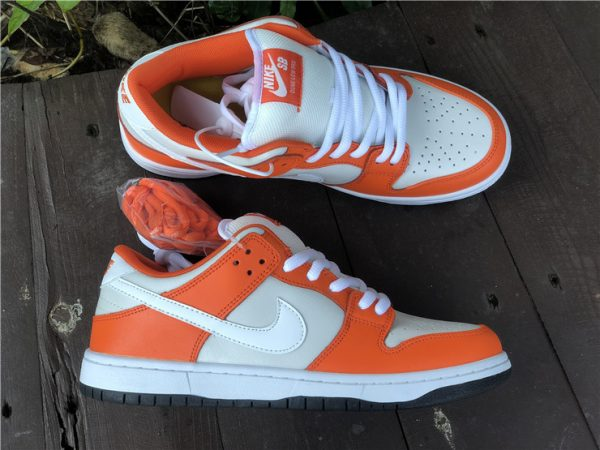 Nike SB Dunk Low Shoes White Orange Black Sale BQ6817-806-1