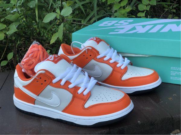 Nike SB Dunk Low Shoes White Orange Black Sale BQ6817-806-2