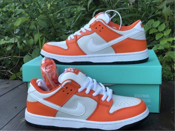 Nike SB Dunk Low Shoes White Orange Black Sale BQ6817-806-3