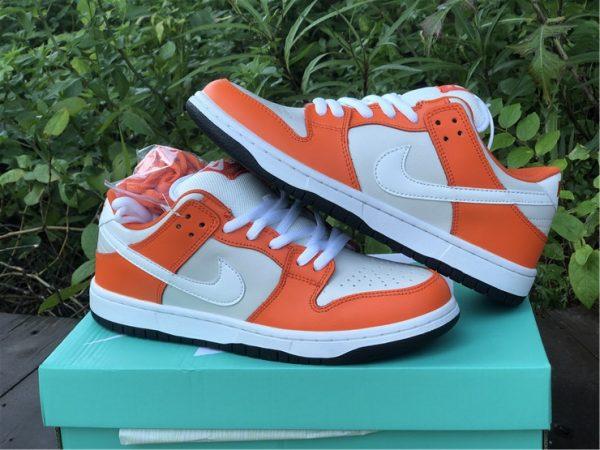 Nike SB Dunk Low Shoes White Orange Black Sale BQ6817-806-5