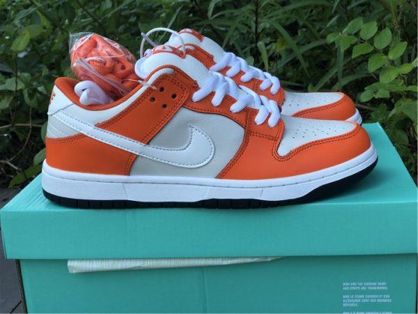 Nike SB Dunk Low Shoes White Orange Black Sale BQ6817-806-6