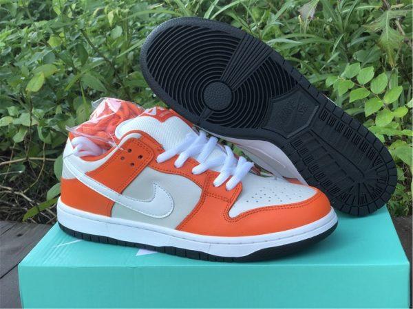 Nike SB Dunk Low Shoes White Orange Black Sale BQ6817-806