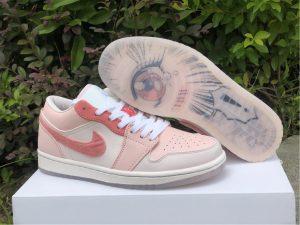 2021 New Air Jordan 1 Low Valentine's Day Shoes DM5443-666