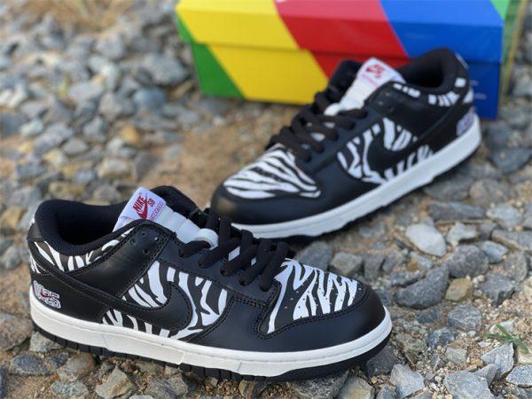 Quartersnacks x Nike SB Dunk Low Zebra Black White DM3510-001-1