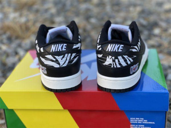 Quartersnacks x Nike SB Dunk Low Zebra Black White DM3510-001-3