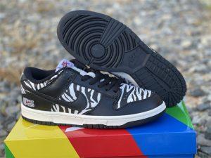 Quartersnacks x Nike SB Dunk Low Zebra Black White DM3510-001