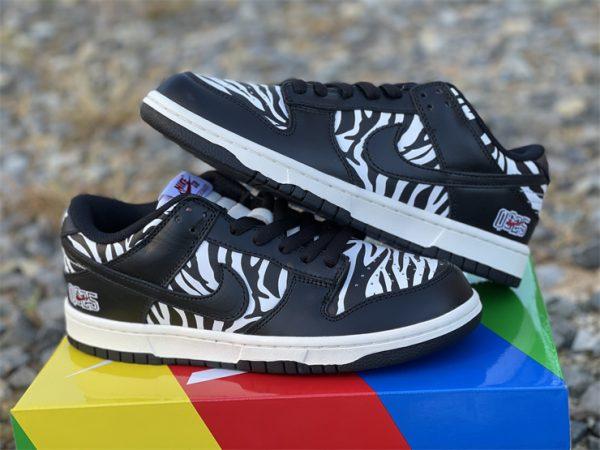 Quartersnacks x Nike SB Dunk Low Zebra Black White DM3510-001-4