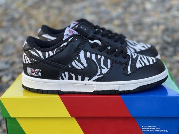 Quartersnacks x Nike SB Dunk Low Zebra Black White DM3510-001-5