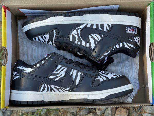 Quartersnacks x Nike SB Dunk Low Zebra Black White DM3510-001 In Box