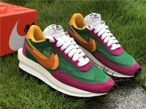 Sacai x Nike LDWaffle Pine Green UK Shoes Sale BV0073-301-1