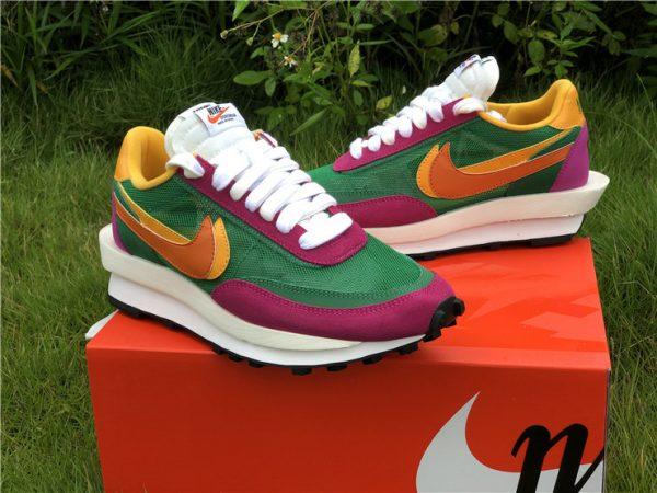 Sacai x Nike LDWaffle Pine Green UK Shoes Sale BV0073-301-3