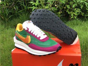 Sacai x Nike LDWaffle Pine Green UK Shoes Sale BV0073-301
