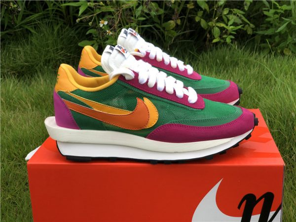 Sacai x Nike LDWaffle Pine Green UK Shoes Sale BV0073-301-4
