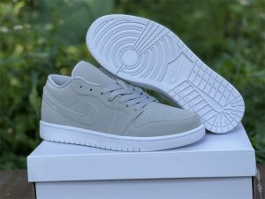 2022 Best Air Jordan 1 Low Grey Fog White Sneakers DC0774-002