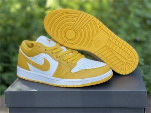 Air Jordan 1 Low Pollen White Yellow On Sale 553558-171
