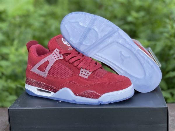 Air Jordan 4 Retro Claret Red White Online Sale AJ4-1032076